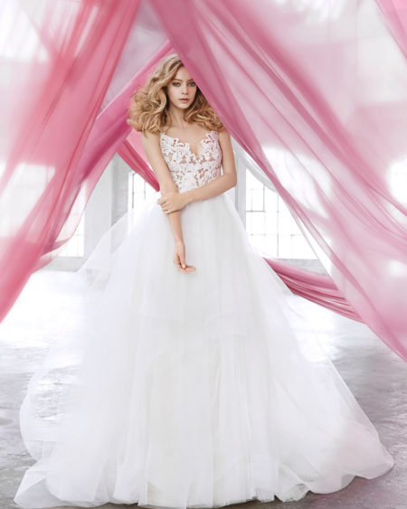 Blush Hayley Paige Bridal Halo 1